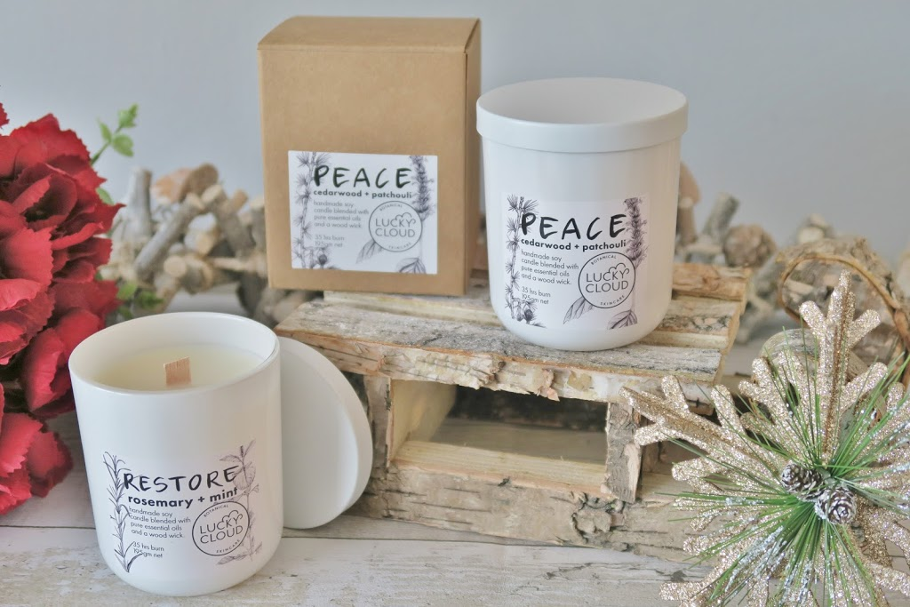 Natural & Organic Christmas Gift Guide - This Natural Bee - Lucky Cloud Botanical Candles